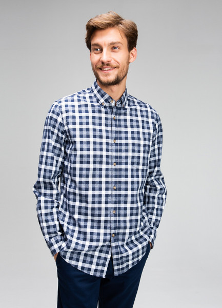 Рубашка в клетку Oxford Vichy фото