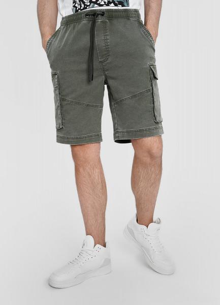 Карго-шорты из эластичной ткани
