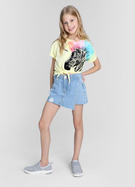 Джинсовая юбка-шорты фото