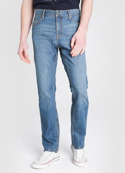 Прямые джинсы из облегчённого денима фото