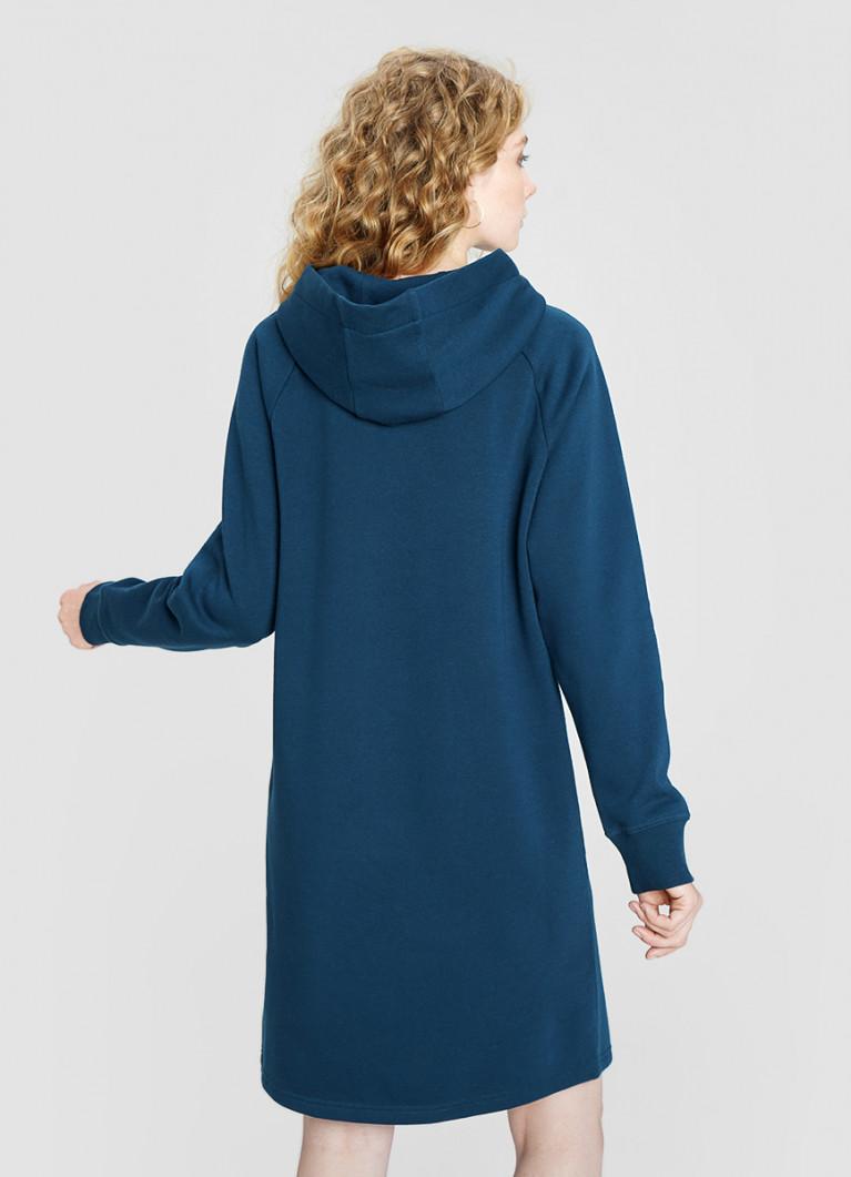 Платье миди с капюшоном