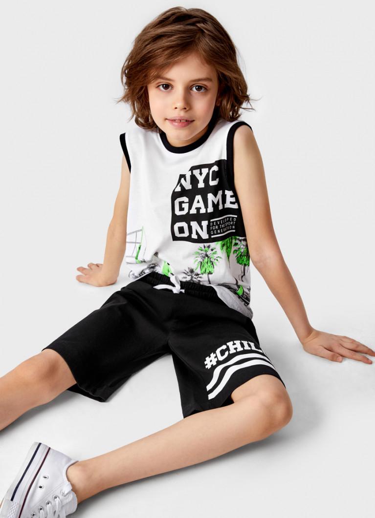 Футболка без рукавов для мальчиков