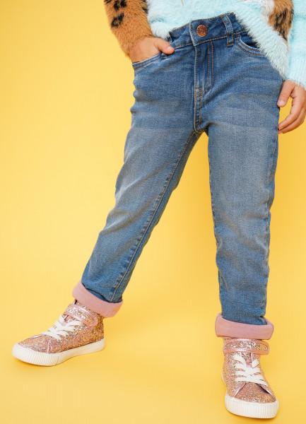 Фото - Джинсы на трикотажной подкладке для девочек джинсы на трикотажной подкладке