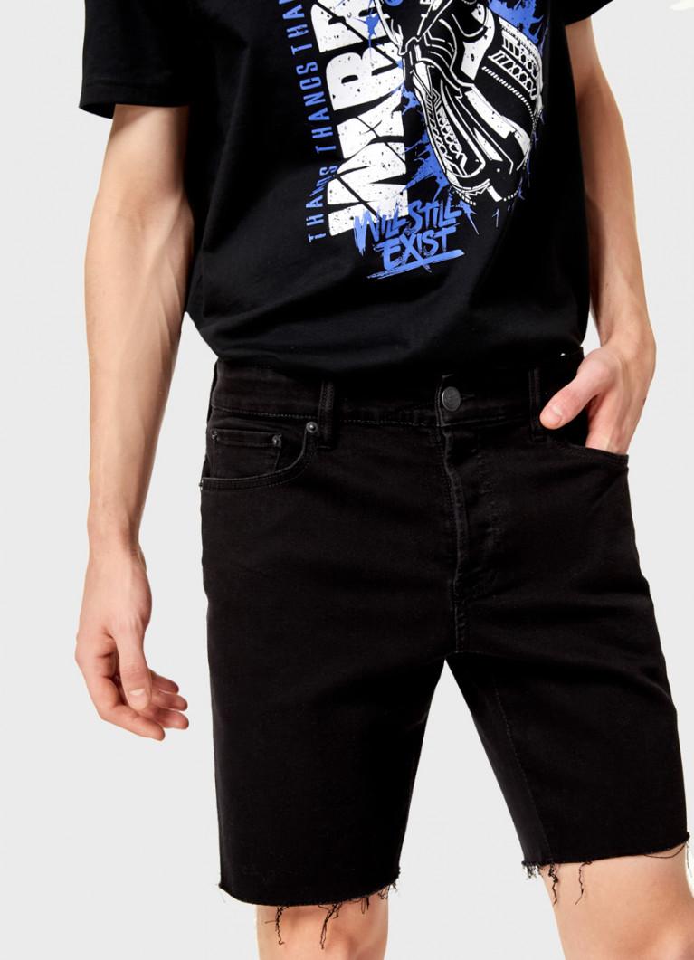 Чёрные джинсовые шорты