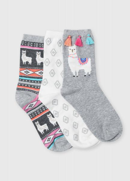 Носки с жаккардом «ламы»