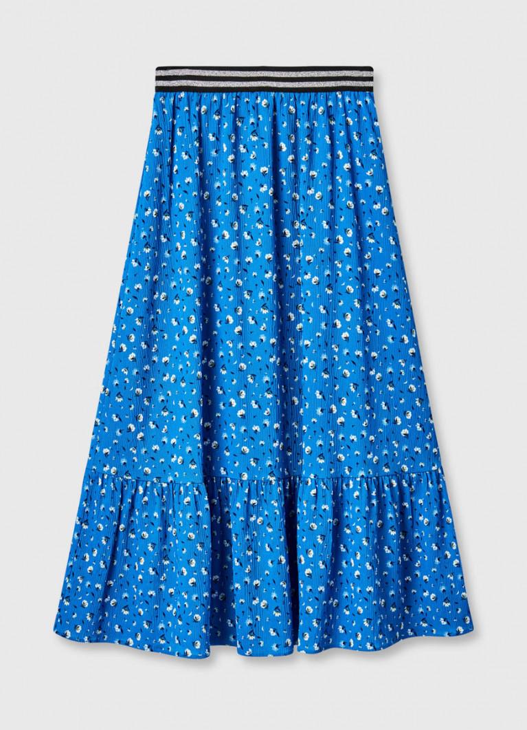 Шифоновая юбка макси