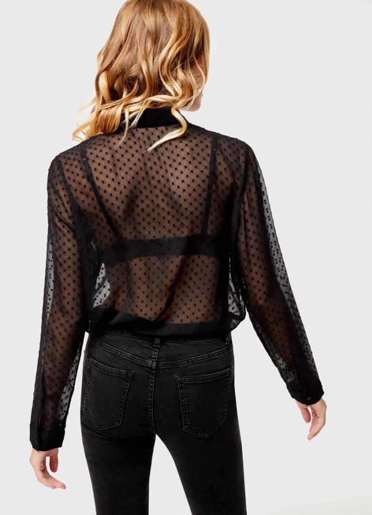 Блузка из жаккардового шифона