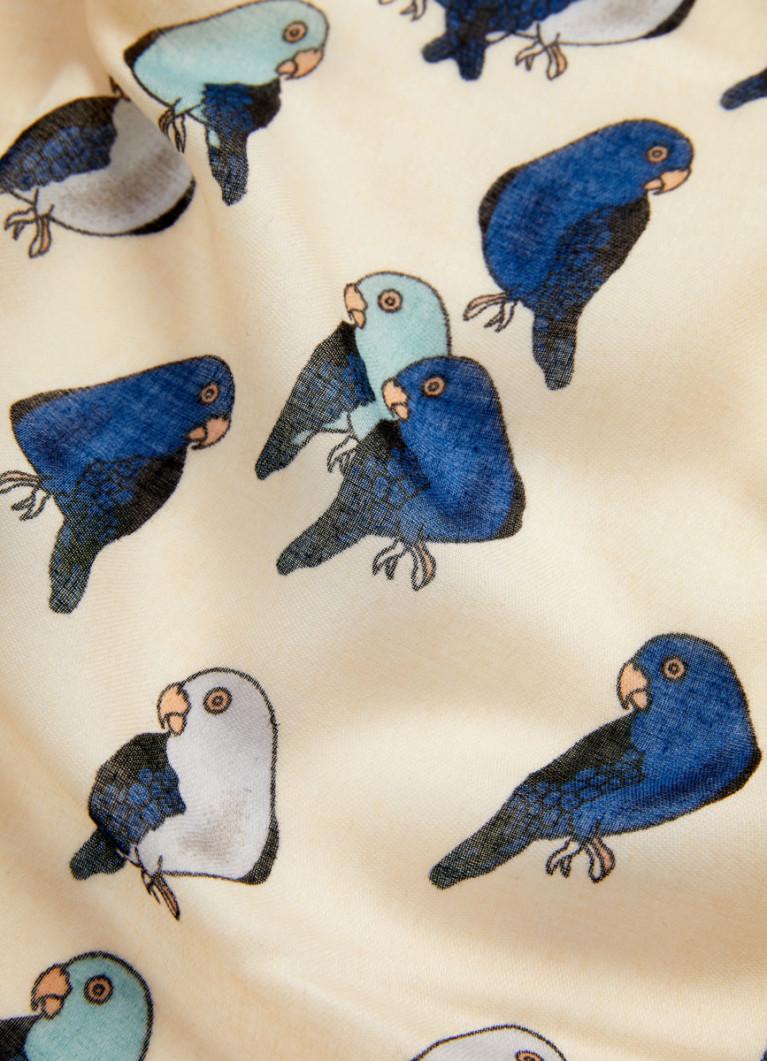 Шарф с принтом «птицы»
