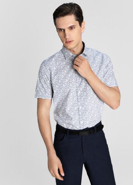 Рубашка с принтом «огурцы»