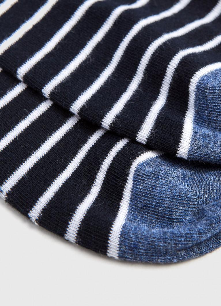 Короткие носки в полоску