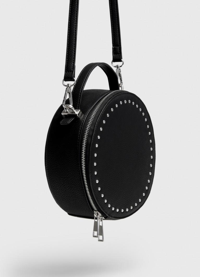 Круглая сумка с ремнем