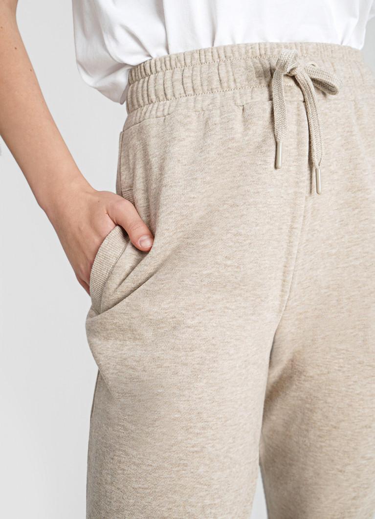 Трикотажные брюки с начёсом