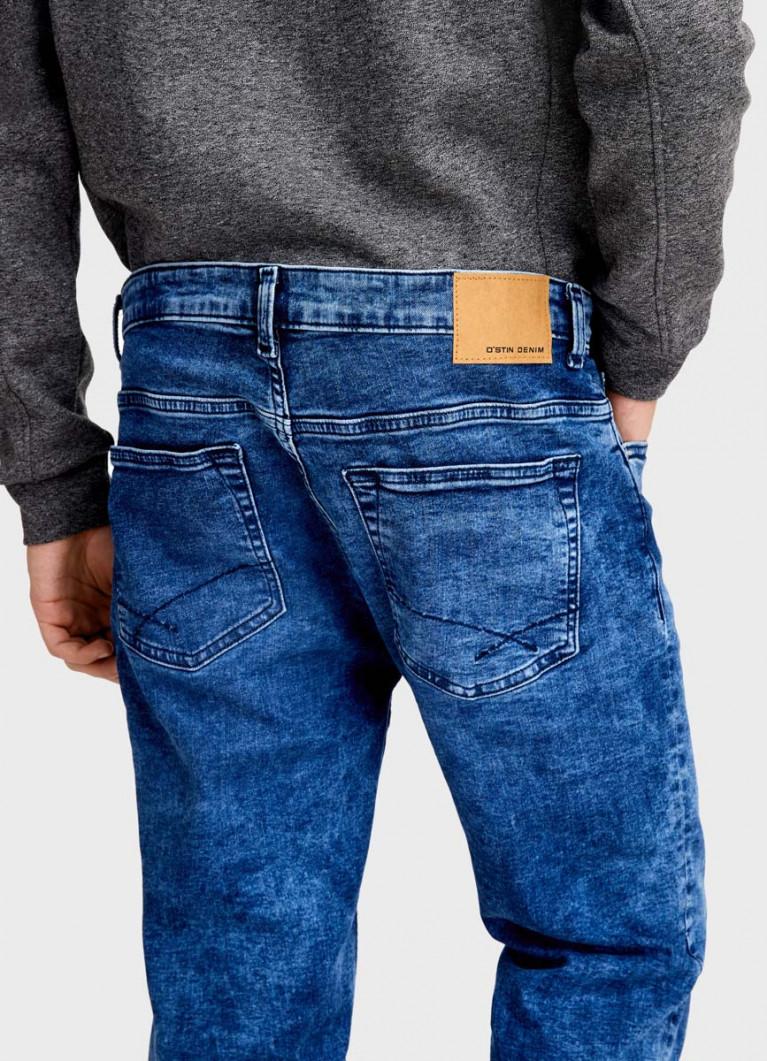 Зауженные джинсы с эластаном