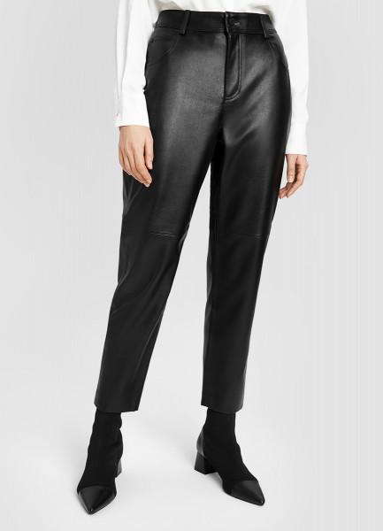 Кожаные Mom-брюки