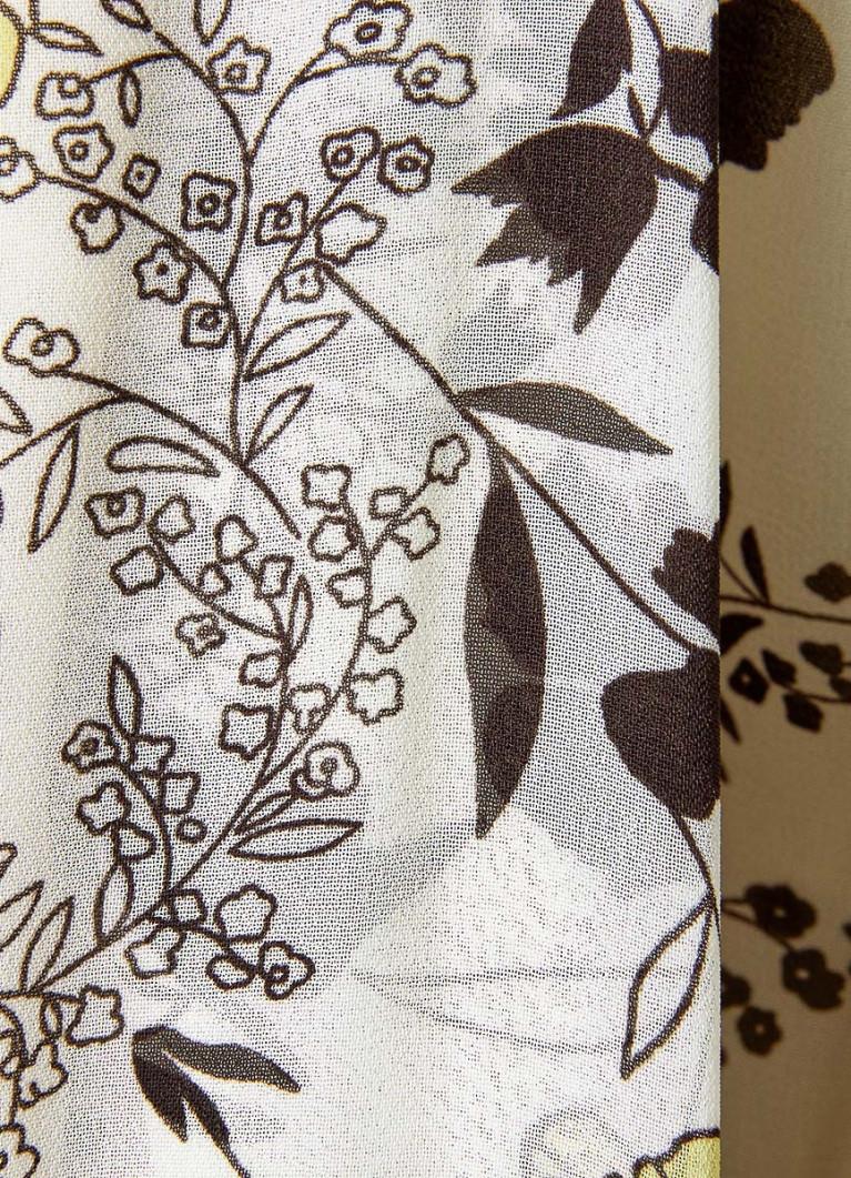 Платье А-силуэта из принтованного шифона