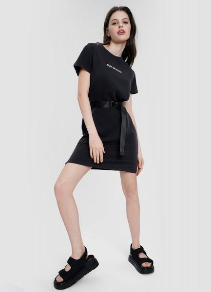 Платье-футболка с оксидной стиркой