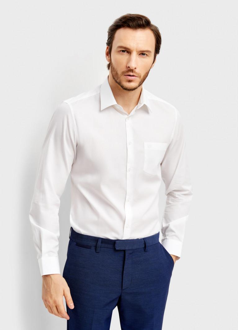 Рубашка из однотонной ткани