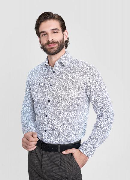 Рубашка из хлопка Oxford с флоральным принтом