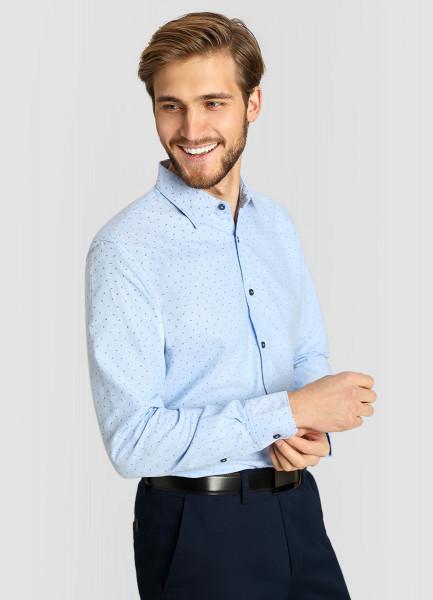 Принтованная рубашка из хлопка Oxford фото