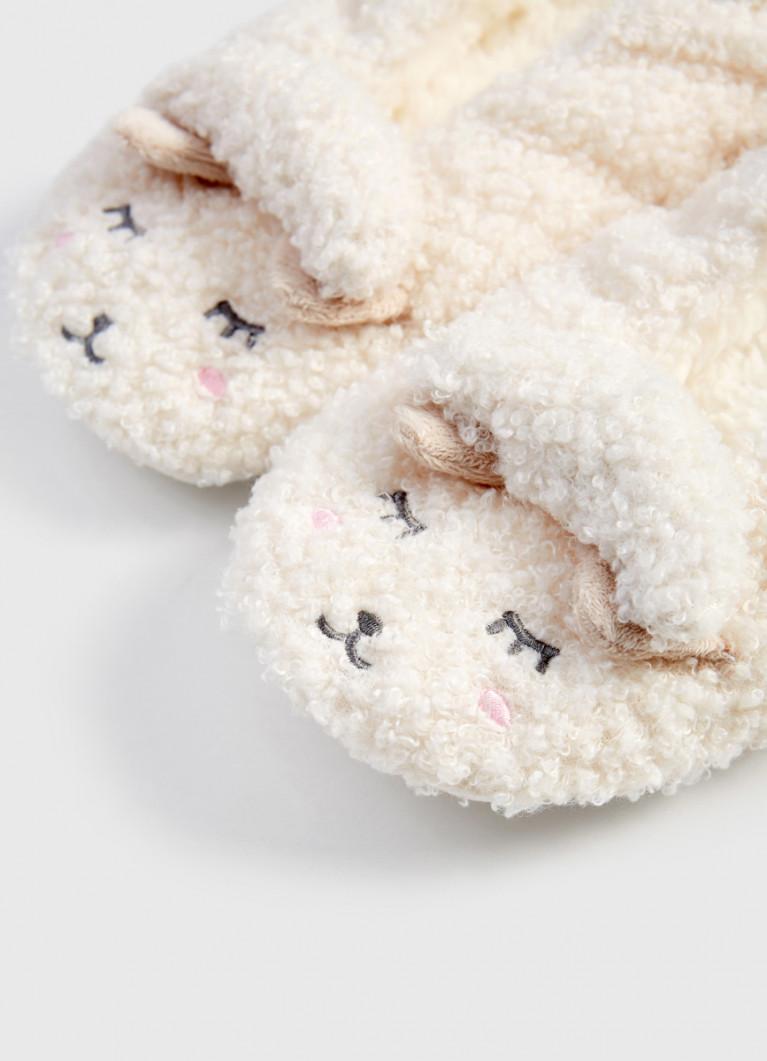 Мягкие тапочки с овечками
