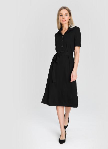 Кроёное платье-рубашка фото