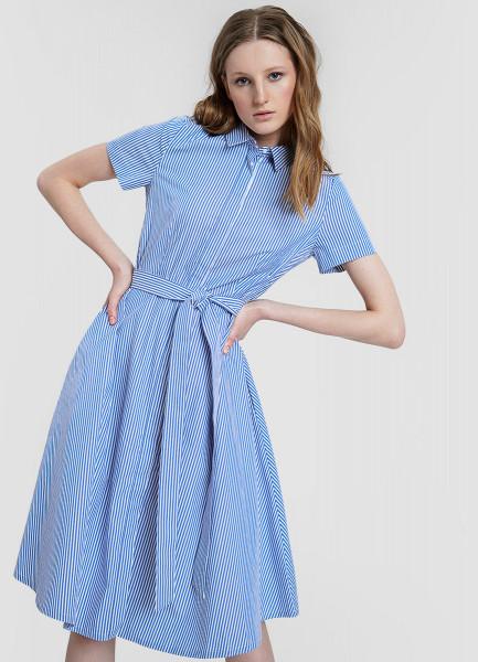 Платье из хлопка А-силуэта