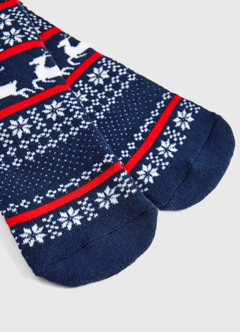 Махровые носки с новогодним жаккардом