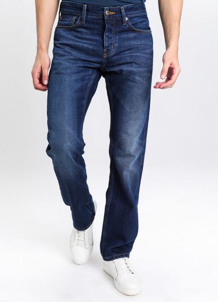 Прямые утеплённые джинсы с добавлением шерсти