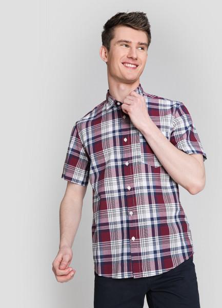 Рубашка в платочную клетку из хлопка