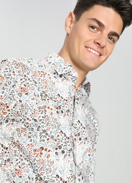 Рубашка c цветочным принтом фото