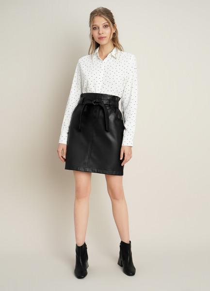 Мини-юбка с поясом