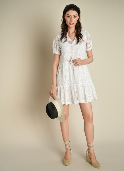 Ажурное платье А-силуэта