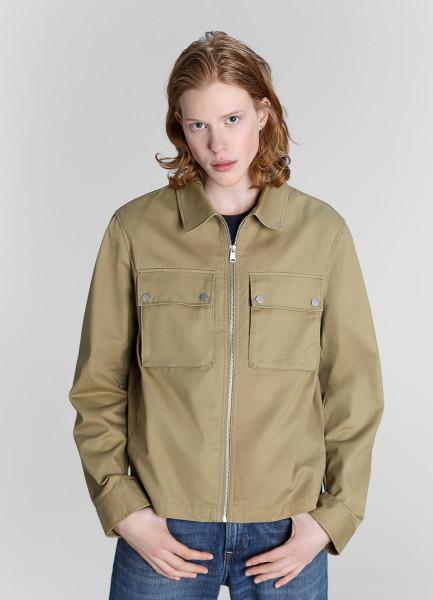 Куртка из хлопка с отложным воротником