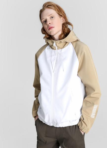 Куртка с цветовыми блоками и капюшоном фото