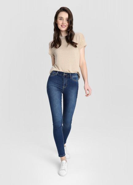 Cуперузкие джинсы с высокой посадкой фото
