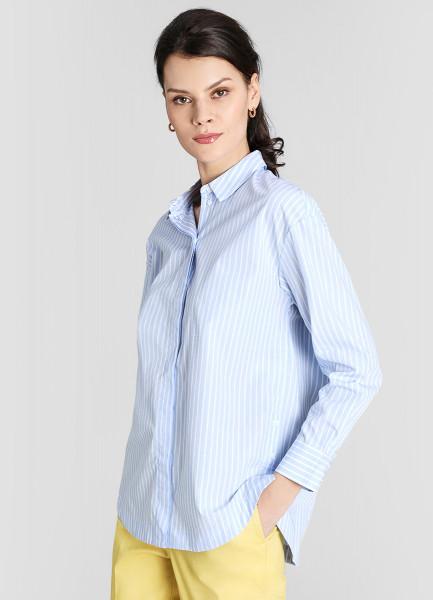 Рубашка из хлопка в полоску фото
