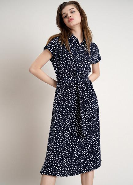 Платье-рубашка с ремнём
