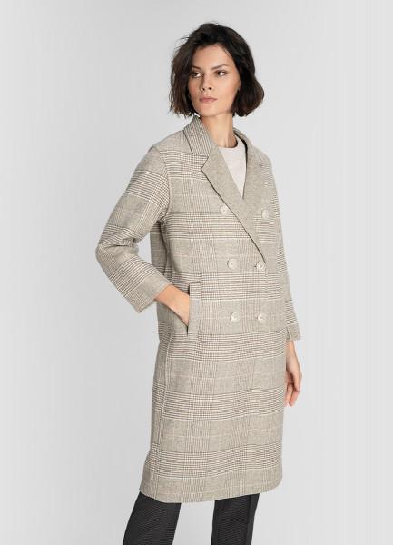Пальто из ткани с шерстью
