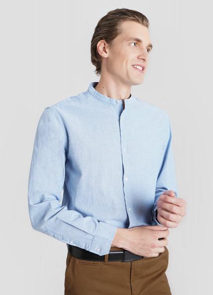 Рубашка из хлопка Oxford с воротником-стойкой