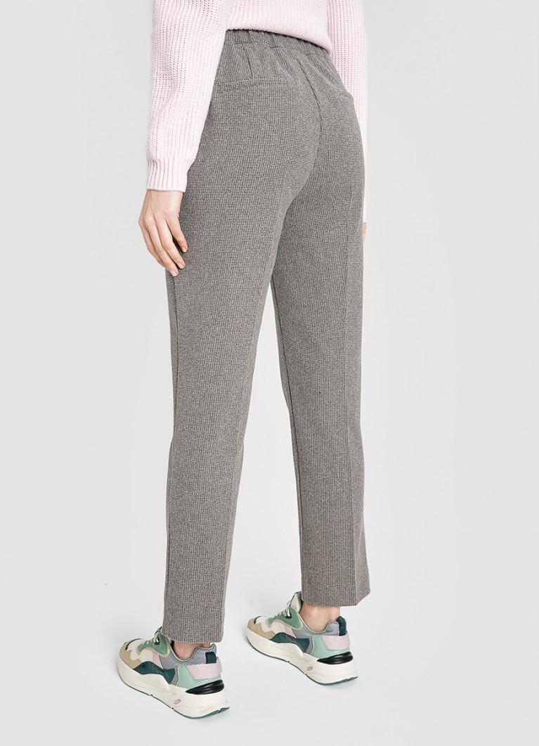 Трикотажные прямые брюки