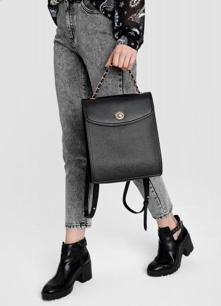Рюкзак с текстурой под сафьян