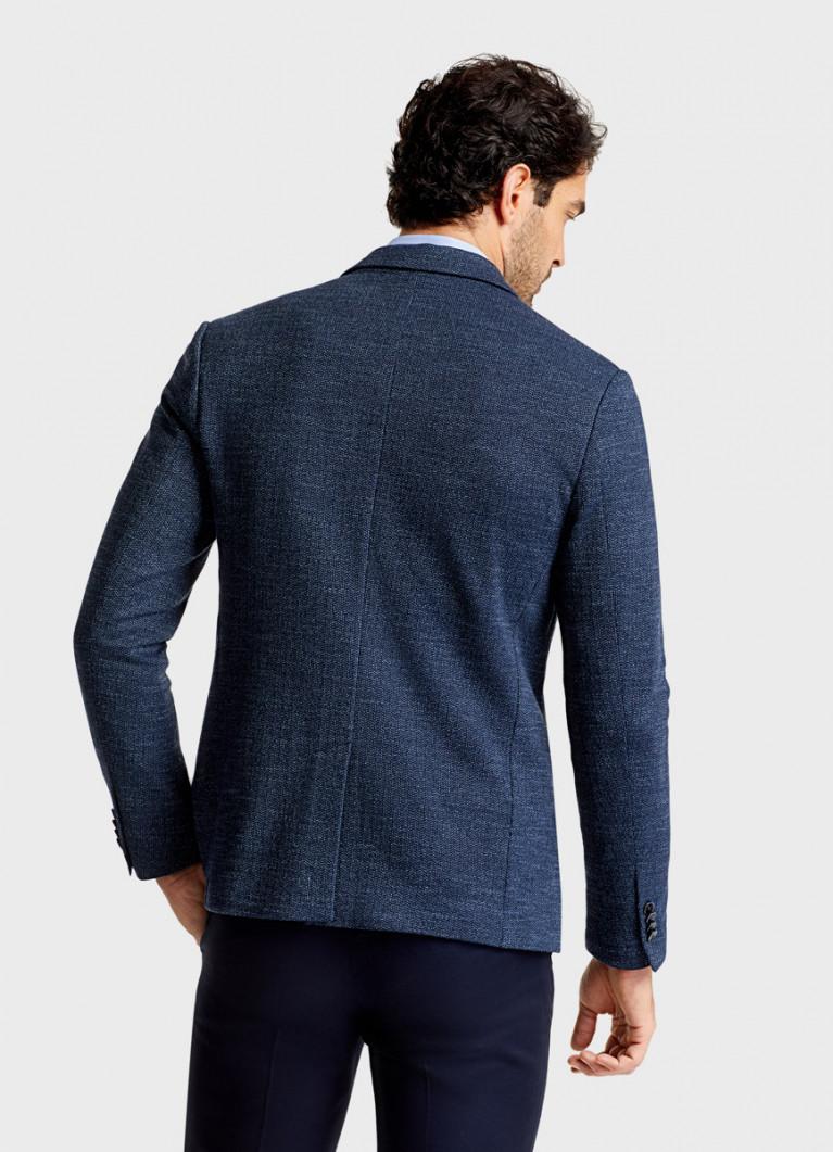 Пиджак в меланжевую ёлочку