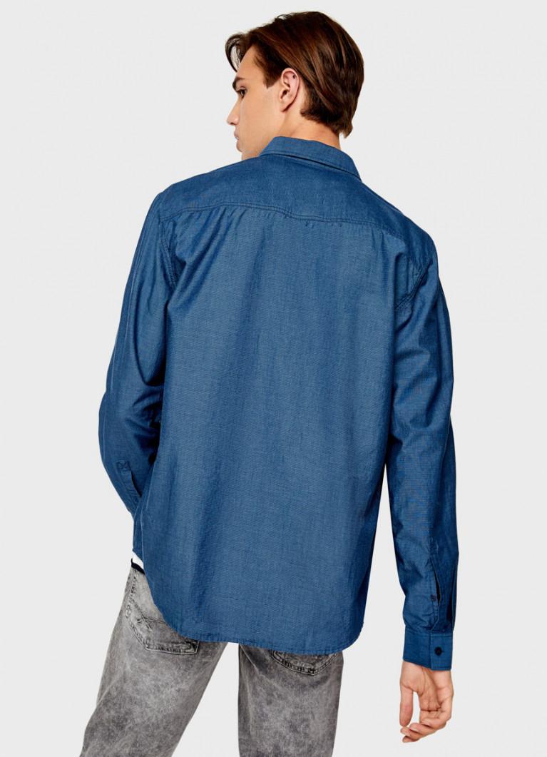 Хлопковая рубашка из фактурной ткани
