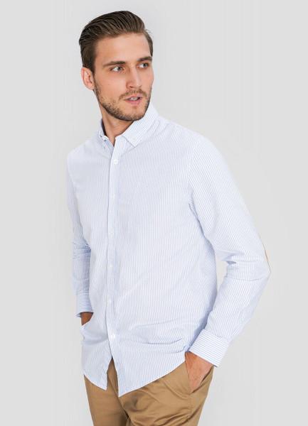 Рубашка в полоску из хлопка Oxford