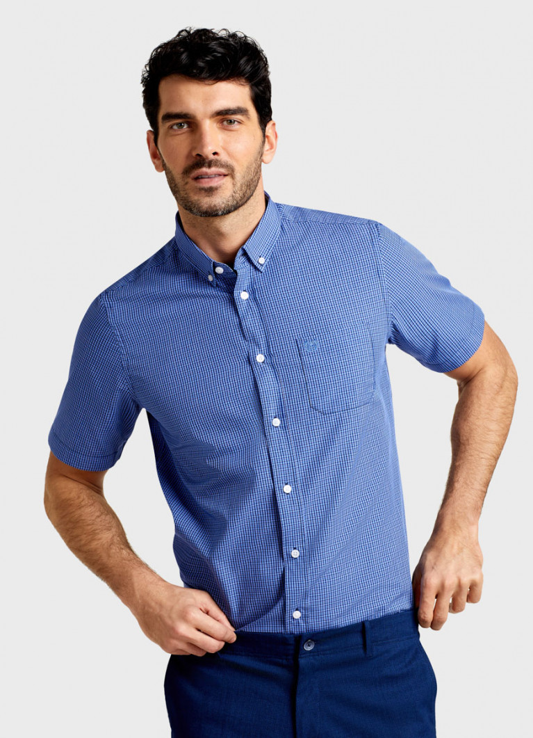 Рубашка в клетку с короткими рукавами
