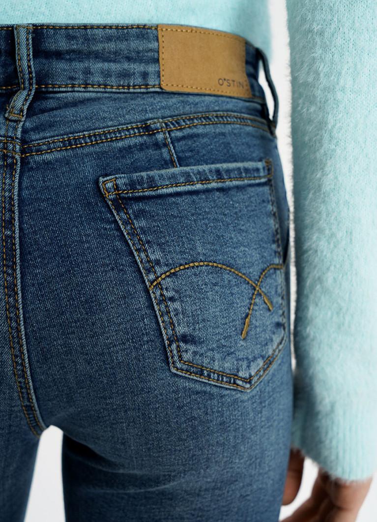 Суперузкие укороченные джинсы