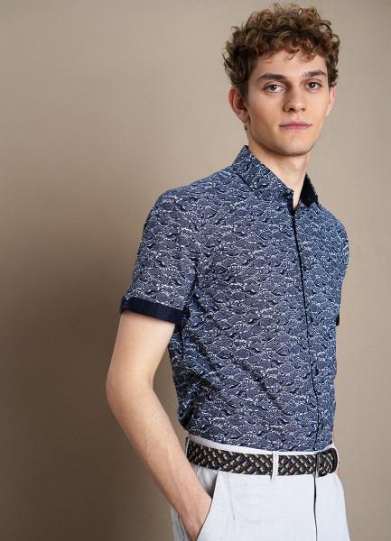 Рубашка с принтом «рыбы»