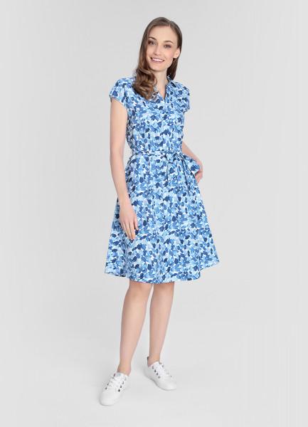 Платье из сатинированного хлопка