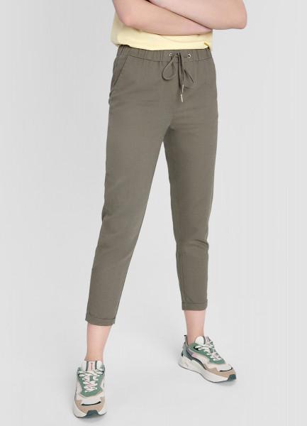 Льняные брюки-багги