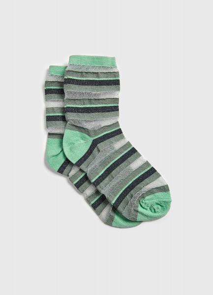 Тонкие люрексные носки